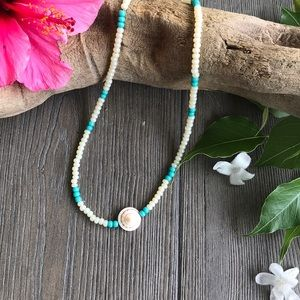 🌸🌿Handmade Beaded Shell Necklace🌿🌸
